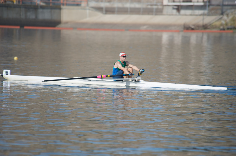 Sculling in a Single at BIAC