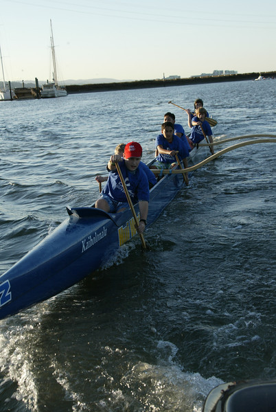 Junior Paddlers in an OC-6